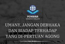 Photo of UMANY derhaka persoal tindakan Agong: PEMBINA UM